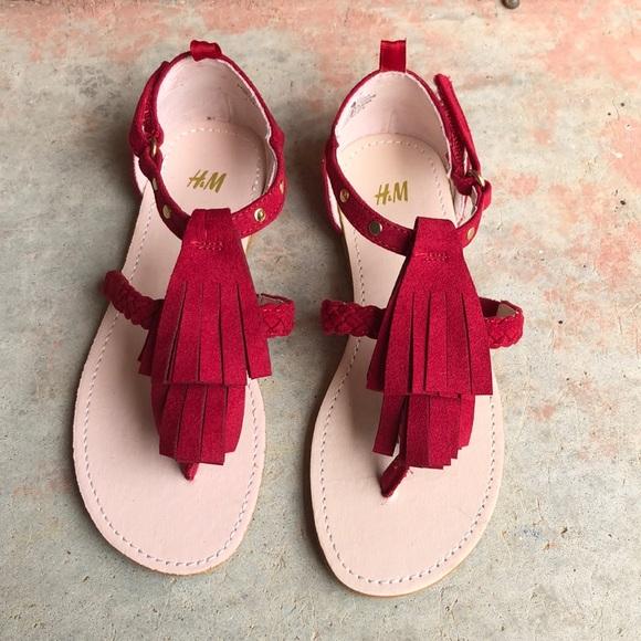 H\u0026M Shoes | Hm Red Sandals Girls 2 Nwot